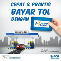 E - Tol / E - Money Flazz dari bank BCA Saldo Rp. 25.000