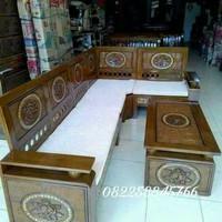 Kursi sofa sudut tamu MURAH free ongkir kayu jati buatan jepara