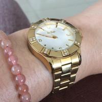 Preloved Jam Tangan Original Lee Cooper LC 51L-C Gold Watches