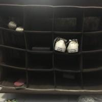 Ace Hardware brown canvas shoe organizer (rak sepatu kanvas)