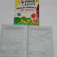 Buku mewarnai anak karakter si kancil dan buaya