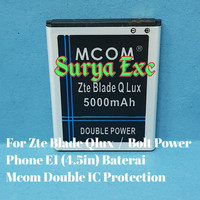 Baterai Zte 4G A110 / Blade Qlux / Bolt PowerPhone E1 Double IC
