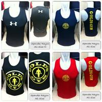 kaos singlet gym fitness gold golds gym ua under armour superman