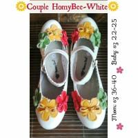 sepatu couple/couple shoes mom & kids homy bee mayo-mix