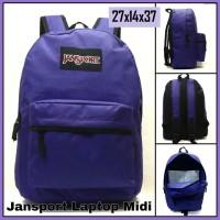 Tas Ransel Laptop Anak/Sekolah/Wanita Jansport Ungu/Purple Polos