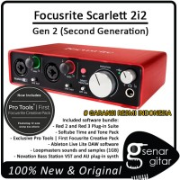 Focusrite Scarlett 2i2 - 2nd Second Generartion, USB Audio Interfaces