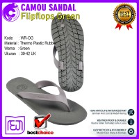 Sandal Jepit Trendy Pria Wanita Camou Flipflops Green Anti Slip CM022