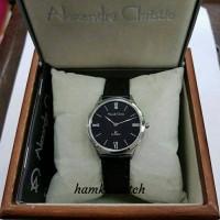 jam tangan wanita alexander cristie ac8478 silver plat hitam