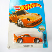 Porsche 993 GT2 Oranye Hot Wheels Factory Fresh Mattel Diecast