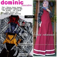 Baju Terusan Wanita Muslim Longdress Dominic Executive