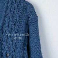 [NEW]Cardi Tumblr Denim-Sweater Rajut Tebal-Cardigan Fall Winter