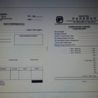 Cetak Nota NCR 1/2 folio rangkap 2 untuk Hotel, Losmen, Penginapan