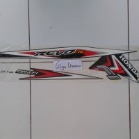 striping sticker honda revo fit 2015 2016 hitam lis merah