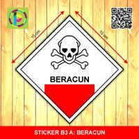 Sticker Limbah B3 - Beracun [size 10 cm]