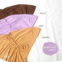Khimar Berry Kerut  by hijab alila kids size 4-6