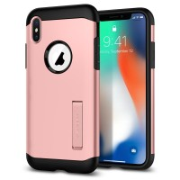 Spigen iPhone X Case Slim Armor Rose Gold ( ORIGINAL )