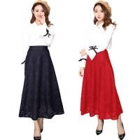 Maxi Flower Punching Skirt(#612)/Rok panjang/Rok Pesta/Rok Ngembang