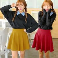 Lollypop Flare Skirt(#8802)/Rok midi/Rok flare/Rok lebar