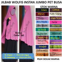 Jual Jilbab wolfis jumbo/Hijab wolfis jumbo cadar Murah