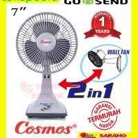 Harga kipas angin cosmos desk fan 7 inch 2 in 1 | antitipu.com