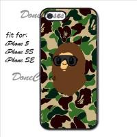 Casing iPhone 5 5S Bathing Ape Bape Eyewear Camo Hard Case Custom