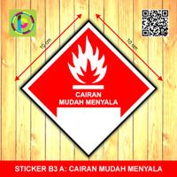 Sticker Limbah B3 - Cairan Mudah Menyala [size 10 cm]