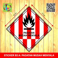Sticker Limbah B3 - Padatan Mudah Menyala [size 10 cm]