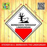 Sticker Limbah B3 - Berbahaya Terhadap Lingkungan [size 10 cm]