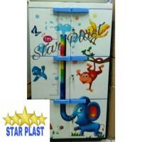 lemari plastik lemari pakaian lemari baju Animal Gajah Jumbo Susun 3