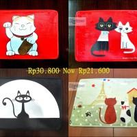 Jual Keset Kaki Handtuft kucing Anti Slip | Lucky Cat  Couple Cat | 60x40cm Murah