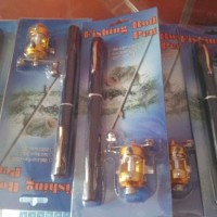 BARU Mini portable extreme pen fishing rod length 1m / pancing pena -