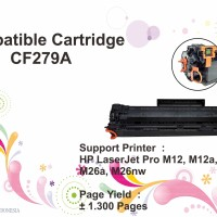 Compatible Cartridge Toner HP CF279A 79A Printer M12a M12w M26a M26nw