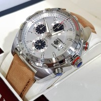TAG Heuer FORMULA 1 CALIBRE 16 WHITE SILVER Brown Leather for MEN