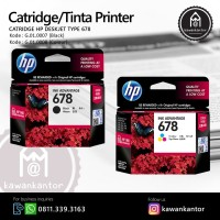 Catridge/Tinta Printer HP Deskjet Type 678 Black Murah Surabaya