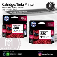 Catridge/Tinta Printer HP Deskjet Type 680 Black Murah Surabaya