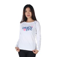 harga Surfer Girl - Kaos Casual Lengan Panjang White - 8melowi Tokopedia.com