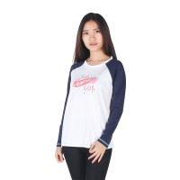 harga Surfer Girl - Kaos Casual Lengan Panjang Putih - 8berryta Tokopedia.com