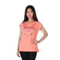 harga Surfer Girl - Kaos Casual Lengan Pendek Salem / Peach - 8komi Tokopedia.com