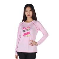 harga Surfer Girl - Kaos Casual Lengan Panjang Pink - 8monkichi Tokopedia.com