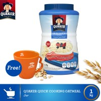 harga [buy 1 Free Mug] Quaker Quick Cooking Oatmeal Jar Tokopedia.com
