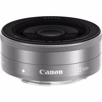 Lensa Kamera Mirrorless Canon EF M 22mm 22 F 2 STM Black Silver