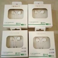 Oppo R11 Ori Earphone Putih Headset HP R9 R1 R7S R7 A57 F1 F3