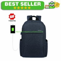 Best Quality TIGERNU Tas Ransel Laptop dengan USB Charger - Black