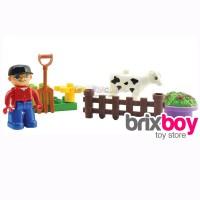 Lego Duplo Anak-anak Kiddy Star Builder Bricks Pouch - Cow Brixboy