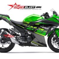 Decal stiker Ninja 250R Green 2018