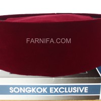Songkok Premium / Peci Songkok warna merah - Merah