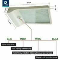 lampu dengan tenaga surya matahari dinding minimalis outdoor taman