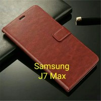 Flip Cover Samsung Galaxy J7 Max J7Max 2017 Wallet Leather Case Casing