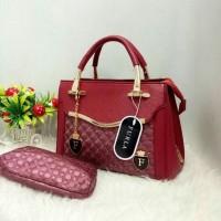 Tas wanita import Furla super 3207 merah maroon harga promo termurah
