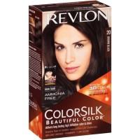 Revlon Color Silk Hair 20 Brown Black Cat Pewarna Rambut Coklat